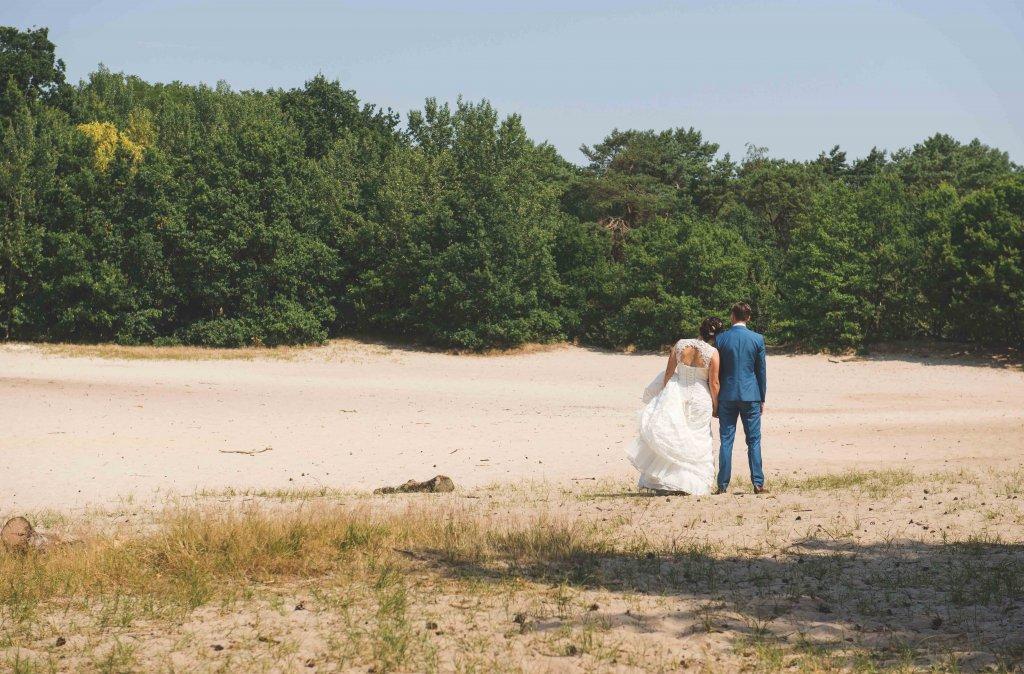 bruidsfoto's bij de zandverstuiving